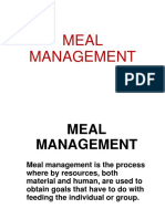 Meal management
