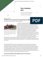 Análisis de La Mezcla de Marketing de McDonald's (4Ps) - Panmore Institute