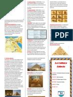 Triptico de La Cultura Egipcia de Chris