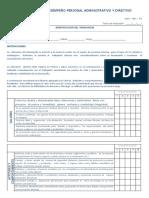 Formato Evaluacion Del Desempeño Personal ADMINISTRATIVOS DICIEMBRE 2012