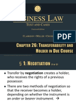 clarkson14e_ppt_ch26      Transferability and Holder in Due Course.pptx