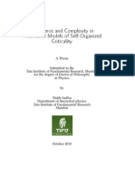 Emergence and Complexity in Theoretical Models of Self-Organized Criticality