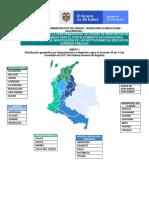 Anexo 1. Distribucion Geografica Por Departamentos y Regiones s