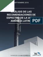 Anlisis de Las Recomendaciones de Espectro de La UIT en Amrica Latina Sept 2018
