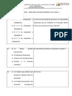 Banco de Preguntas de Realidad Socioeconomica Cultural y Ecologica