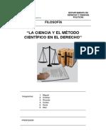 La Ciencia y El Método Cientifico en El Derecho
