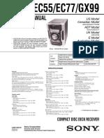 Sony Hcd-ec55 Ec77 Gx99