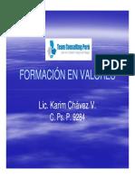 2. Formación en Valores