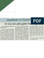 Leserbrief Dr. Müller