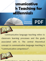 Communicative Language Teaching for Millennials