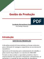 GDP_Aula_1 - Introdução a Gestão Da Produção