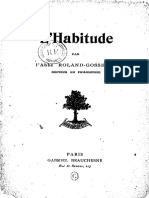 L'habitude - B. Roland-Gosselin