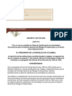 Decreto 1607 de 2002