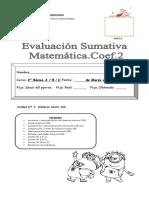Prueba Matematica Unidad 1 2016