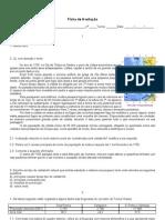 Ficha de avaliação 1 - Geografia 8º ano