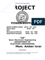 Power supply project  (Regulated  from 0 to 30)