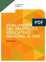 Evaluacion del proyecto educativo nacional
