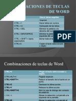 Combinacion de Teclas de Word #2