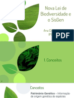 Nova Lei de Biodiversidade