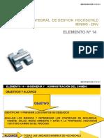 Presentacion Elemento Nº14. INGENIERÍA Y    ADMINISTRACIÓN DEL CAMBIO