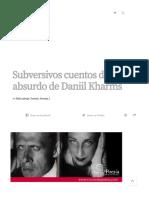 Subversivos Cuentos Del Absurdo de Daniil Kharms – Círculo de Poesía