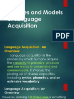 Principles and Theories of Language Acquisition