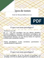 Aula 1 - Tipos de Testes