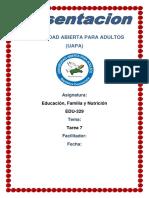 Tarea 7 de Educacion Familia y Nutricion
