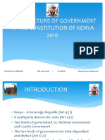 Structure of Government in the Constitution of Kenya