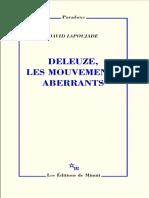 DELEUZE, LES MOUVEMENTS ABERRANTS