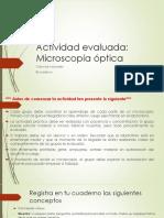 Actividad evaluada microscopio