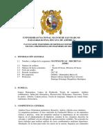 Matemáticas Discretas 2017-II PLAN 2009