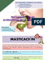 Tto de Las Alteraciones de Masticación.