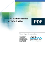 100 Failure Modes of Lubrication