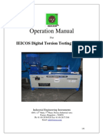 IEICOS DTTM Torsion Testing Machine Operation Manual