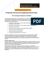29. Producing, Storing and Supplying Animal Feeds 1