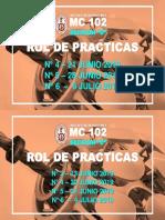 rol de practicas para estudiantes