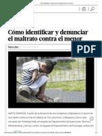 Cómo Identificar y Denunciar El Maltrato Contra El Menor