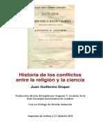 Draper, Juan Guillermo -- Historia De Los Conflictos Entre La Religion Y La Ciencia