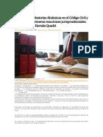 Las Cargas Probatorias Dinámicas en El Código Civil y Comercial