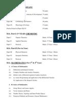 Syallabus Pure B.sc Papers Details