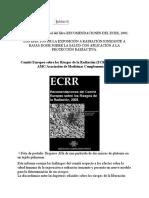Boletín 58 - Publicación en Español Del Libro RECOMENDACIONES DEL ECRR, 2003
