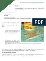 Print Transfer Technique