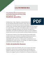 Pío Xii_la Familia Numerosa