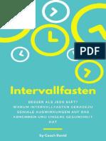 David Coach - Intervallfasten besser als jede Diät - 2018