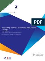 S4HANA UT PP 01 02 Master Data Change Bill of Material V1.0