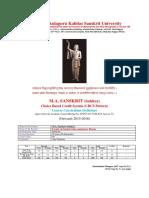 M a Sanskrit Sahitya CBCS 2015 16