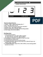 Manual of Jumbo Indicator 4 Inch