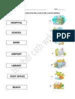 Places Matching Fun worksheet