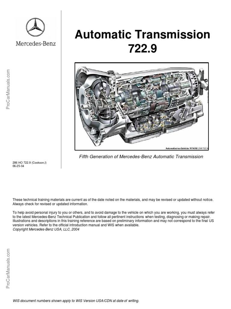 722.9 Transmission Intermediate Pump Plate 2005 Up for Mercedes